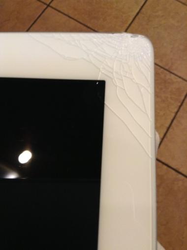 Shattered iPad Corner